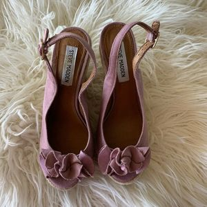 Steve Madden Fauntain Wedge slingback 7.5 open toe